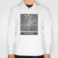 atlanta Hoodies featuring Atlanta map by Map Map Maps