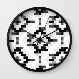 B&W venetian bricks Wall Clock