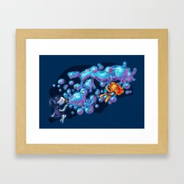Creating the universe is fun! Framed Art Print