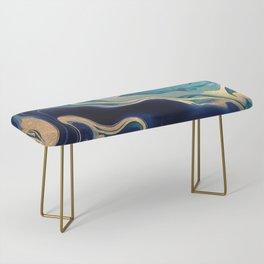 DRAMAQUEEN - GOLD INDIGO MARBLE Bench