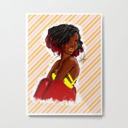 Fierce Model Metal Print