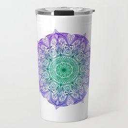 Purple and Green Mandala Travel Mug