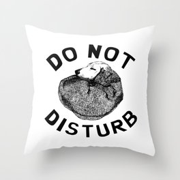 Do Not Disturb Funny Sleeping Dog Throw Pillow
