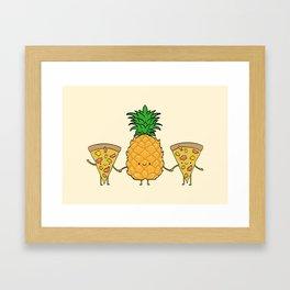 Pineapple Pizza Framed Art Print