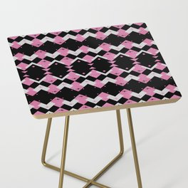 Pink Flamingos Art Deco Pattern Side Table