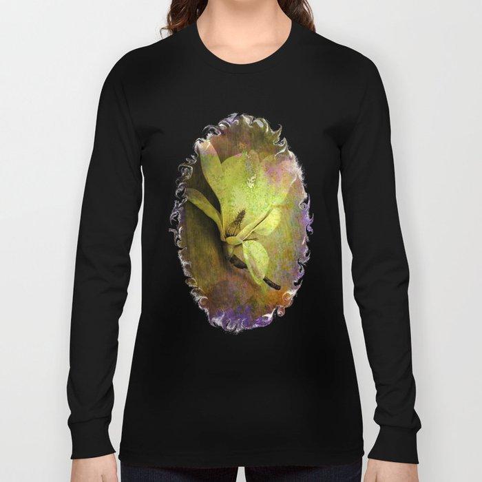 Textured Flower Long Sleeve T-shirt