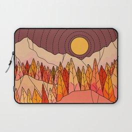 An orange autumn land Laptop Sleeve