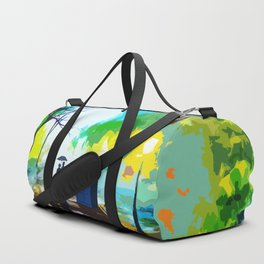 Tardis Love Art Story Duffle Bag