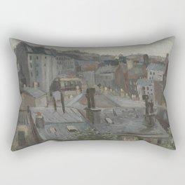 View from Vincent's Studio Rectangular Pillow