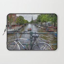 Amsterdam Bridge Canal View Laptop Sleeve