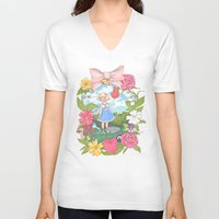 animal crossing V-neck T-shirts featuring Animal Crossing by Julia Marshall