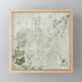 Faded Vintage Stationery Framed Mini Art Print