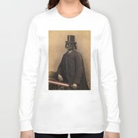 star Long Sleeve T-shirts featuring Lord Vadersworth by Terry Fan