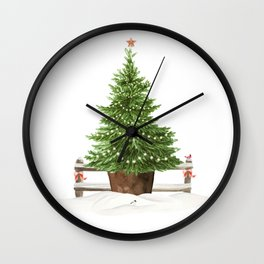 Christmas In The Country Wall Clock