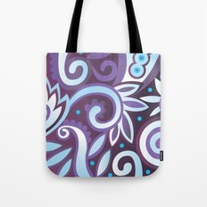 Summer leaves, purple Tote Bag