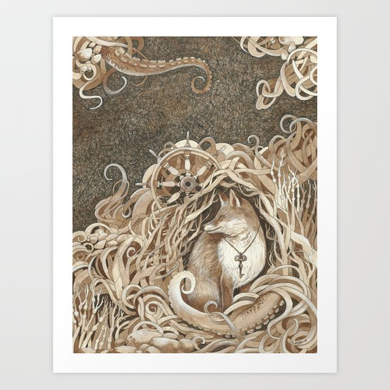 The Fox and the Sea Art Print