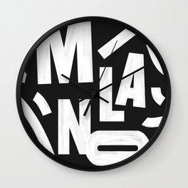 Milano Routes Wall Clock