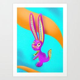 Alebrije (Hare) Art Print