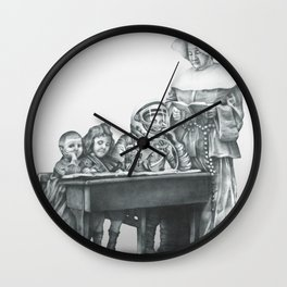 In which a cosmonaut is rendered quizzical Wall Clock