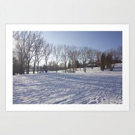 Snowy field Art Print