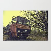 truck Canvas Prints featuring truck by idolmindzmedia