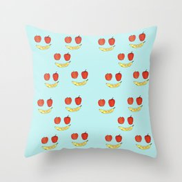 happy fruits Throw Pillow