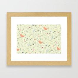 Woodland Wonders (Cilantro) Framed Art Print