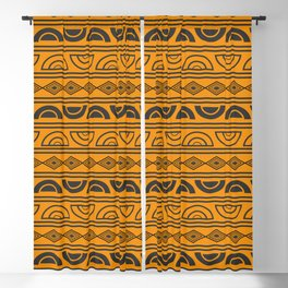 Mud cloth geometry Blackout Curtain