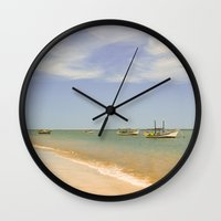 marina Wall Clocks featuring Marina by Julio O. Herrmann