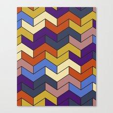 Geometric Chevrons Canvas Print