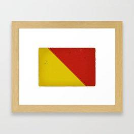 Vintage Nautical Flag Framed Art Print
