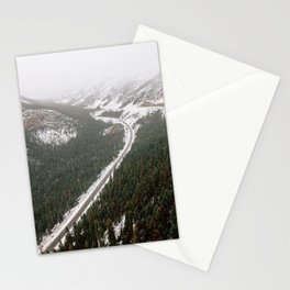 Snowy Mountain Road Stationery Cards