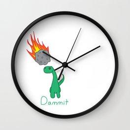 Dammit Dinosaur Wall Clock