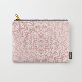 Blush Rose Pink Mandala Carry-All Pouch