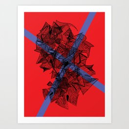 Line Abstraction  Art Print