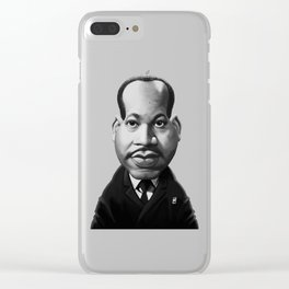 Martin Luther King Clear iPhone Case