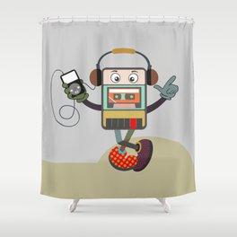 Retro Music Playlist III Shower Curtain