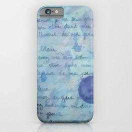 Lune Bleue No. 2 iPhone Case