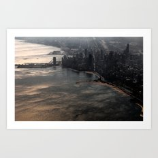 Chicago from ~10,000 feet Art Print