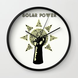 Solar Power to the People Wall Clock