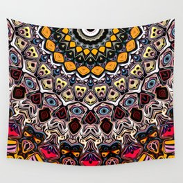 Colorful Balance of Shapes Wall Tapestry