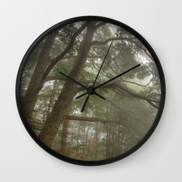 Misty Forest Branchscape Wall Clock