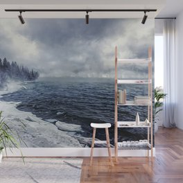 She's a cold and mysterious lover. Wall Mural
