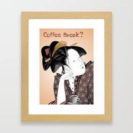 Coffee Break? Framed Art Print