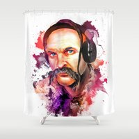 selena Shower Curtains featuring Cossack Ivan Sirko listen music by Sitchko Igor