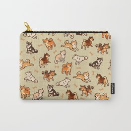 Shibas in cream Carry-All Pouch