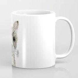Alpaca eating Daisies Coffee Mug