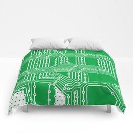 Computer board pattern Comforters