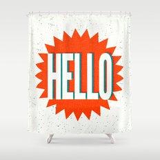 Hello Shower Curtain