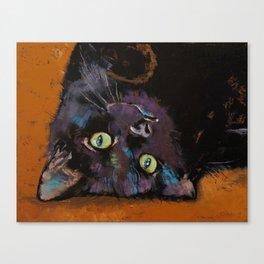 Upside Down Kitten Canvas Print